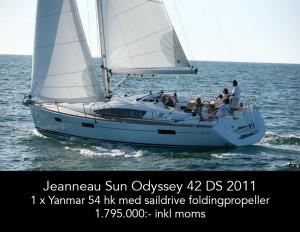 Jeanneau Sun Odyssey 42 DS 2011