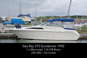 Sea Ray 270 Sundancer 1992